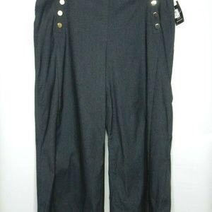inc Womens Plus 18W Wide Leg Cropped Capri Pant